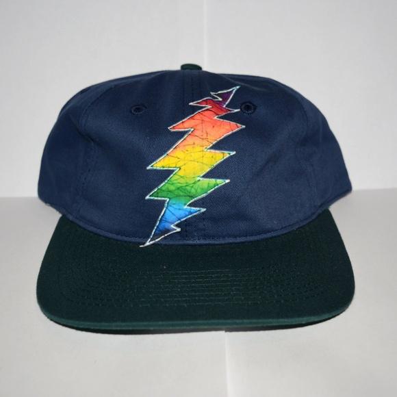 5edca5f2 Accessories | Grateful Bolt Rainbow Tie Dye Hat New | Poshmark